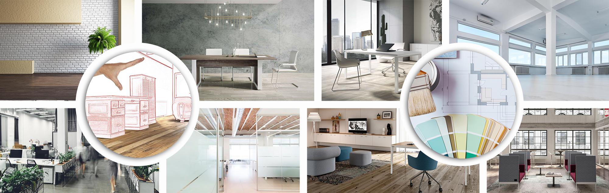 composicion de oficinas y gama de colores syncro21