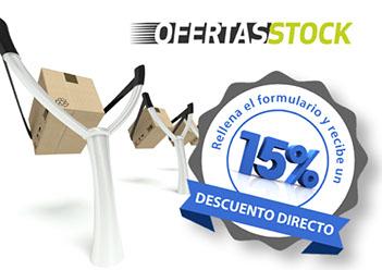 cartel de 15% oferta