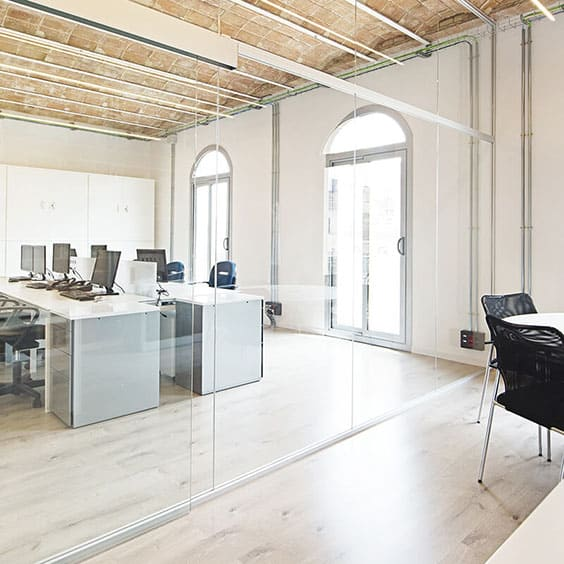 creación de espacios de trabajo y mamparas