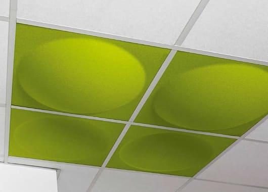 fonoabsorbencia ecoround ceiling