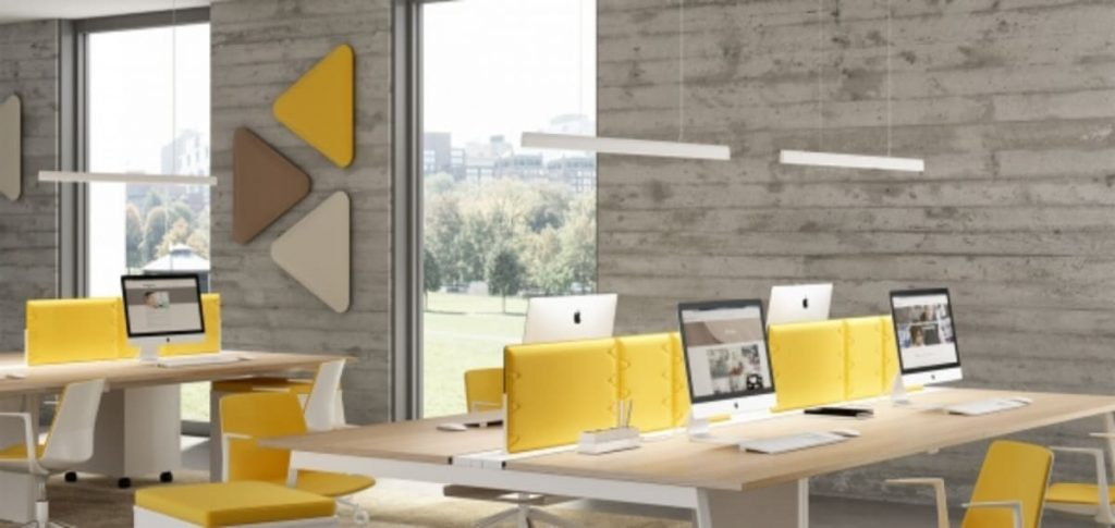 iluminación de oficinas flyup