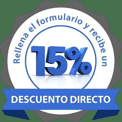 oferta del 15 % de descuento