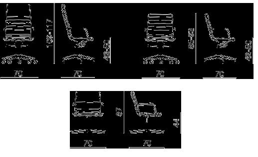 Cotas silla Dahlia