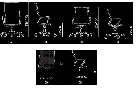 Cotas silla Dinámica