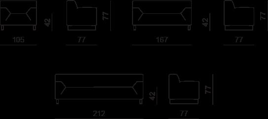 Cotas sofá Asso