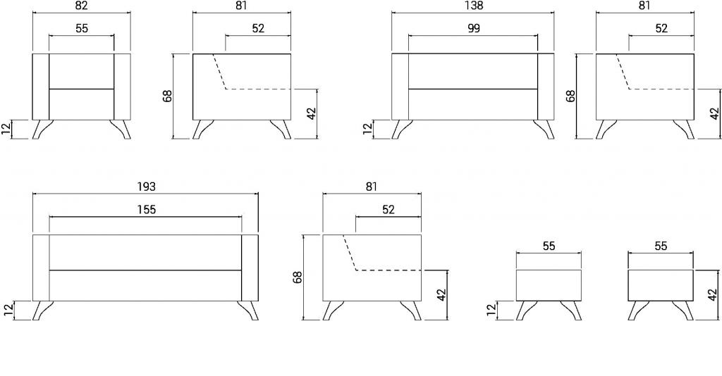 Cotas sofá Classic