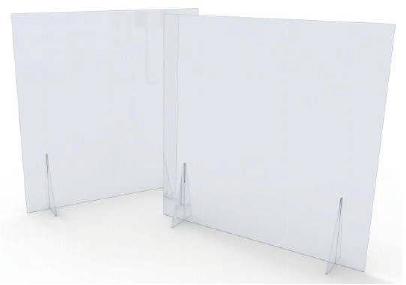 Mampara mostrador sin abertura